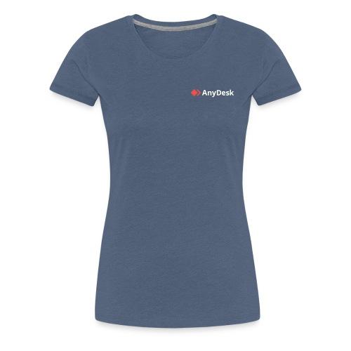 AnyDesk - logo white - Frauen Premium T-Shirt