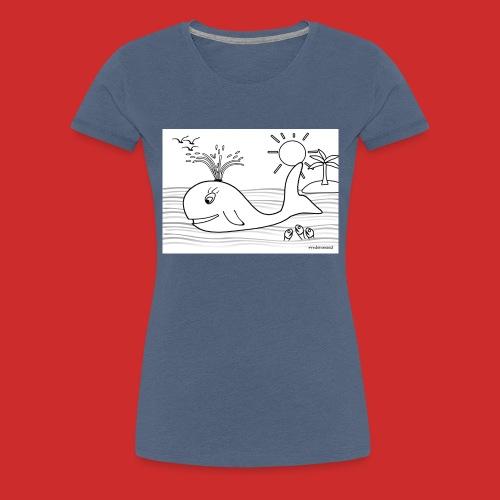 disegno_balenotta_da_colorare-jpg - Maglietta Premium da donna