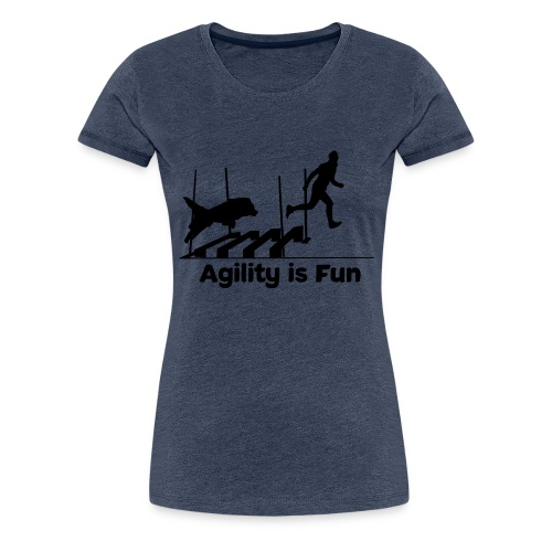 Hundesport Fun Agility - Frauen Premium T-Shirt