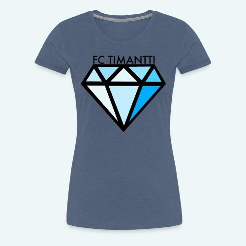 FC Timantti mustateksti - Naisten premium t-paita