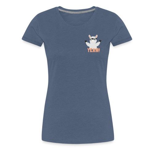 Cool Llama YEAH! - Dame premium T-shirt