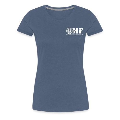 OMF white logo - Women's Premium T-Shirt