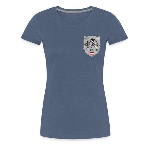 St. Anton Austria coat of arms - Women's Premium T-Shirt