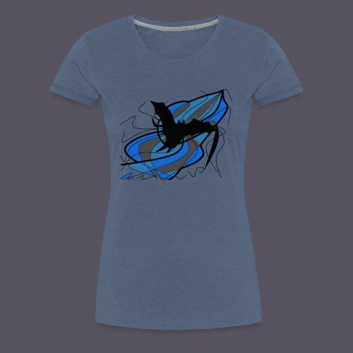 Fantasie Fledermausmotiv - Frauen Premium T-Shirt