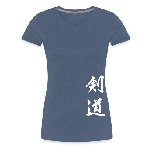 kendokanji - Premium-T-shirt dam