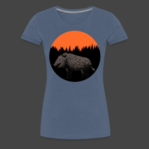 Sunset Boar - Frauen Premium T-Shirt