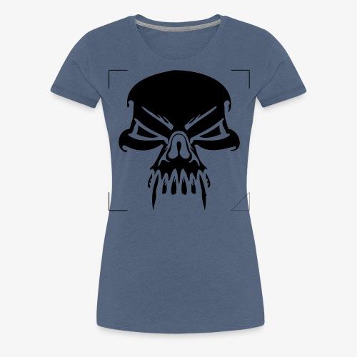 CALAVERA CON COLMILLOS - Camiseta premium mujer