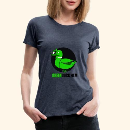 Greenduck Film Logo w. black letters - Dame premium T-shirt
