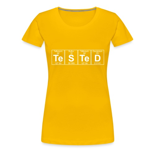 Te-S-Te-D (tested) (small) - Women's Premium T-Shirt