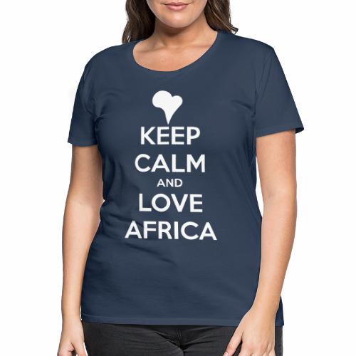 keep calm noir - T-shirt Premium Femme