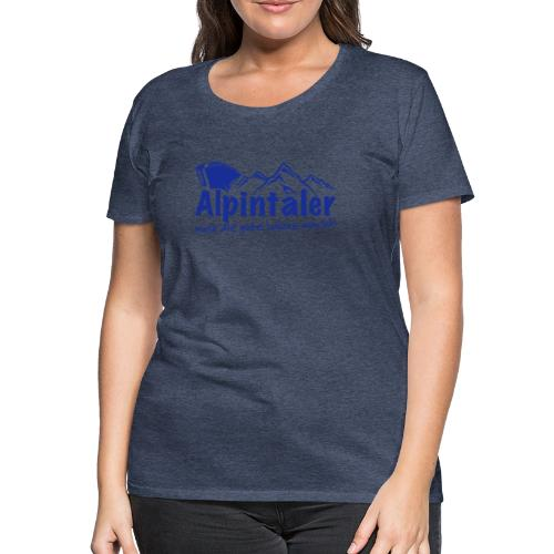 Logo dunkelblau spruch - Frauen Premium T-Shirt