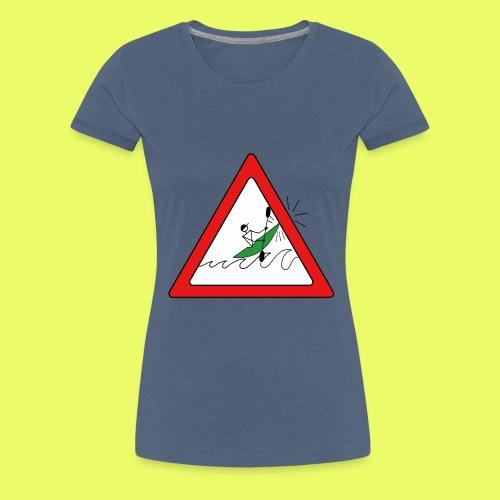 Kajak Unfall im Dreieck - Frauen Premium T-Shirt