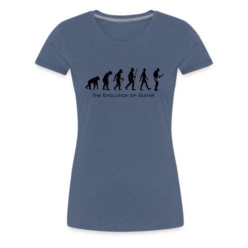 The Evolution Of Guitar - Camiseta premium mujer