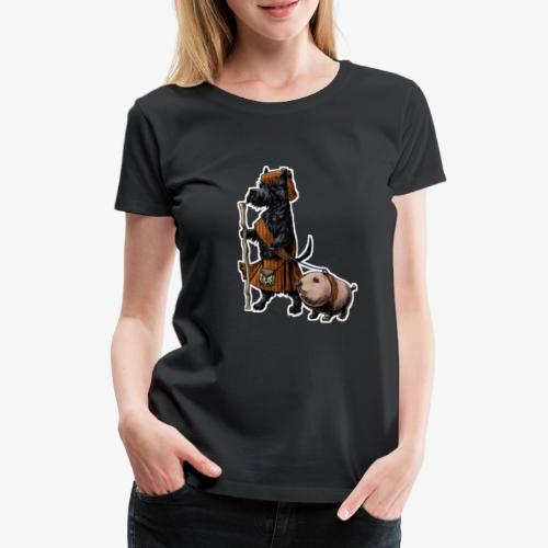 Scottie and Haggis dark t - Women's Premium T-Shirt
