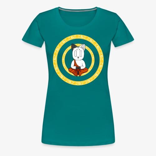Buddh-cat Yellow - T-shirt Premium Femme