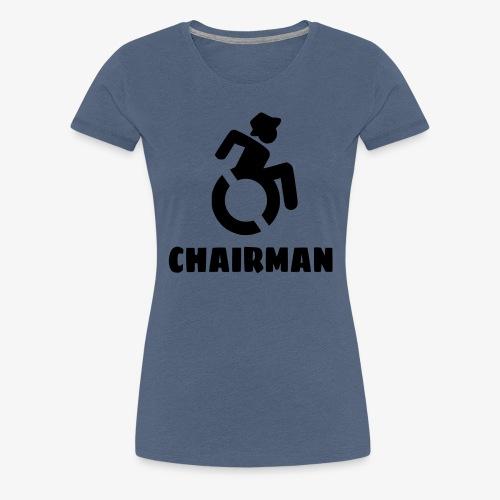 Rolstoel man 001 - Vrouwen Premium T-shirt