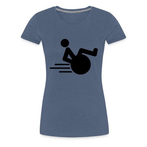Wheelie1 - Vrouwen Premium T-shirt