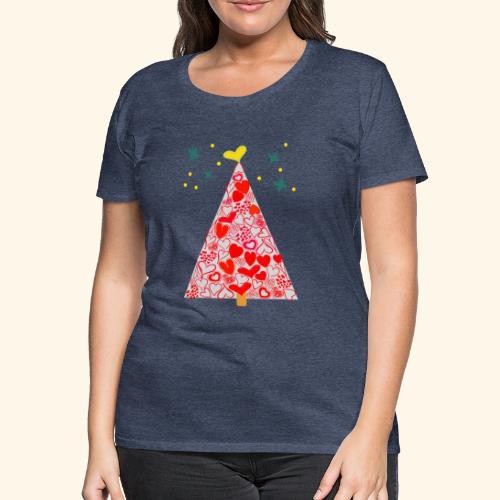 Christbaum der Herzen - Frauen Premium T-Shirt