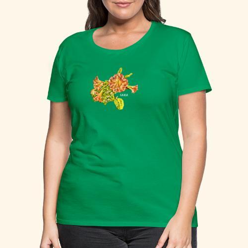 Trompetenbaum Blüten von S.A.R.A. - Frauen Premium T-Shirt