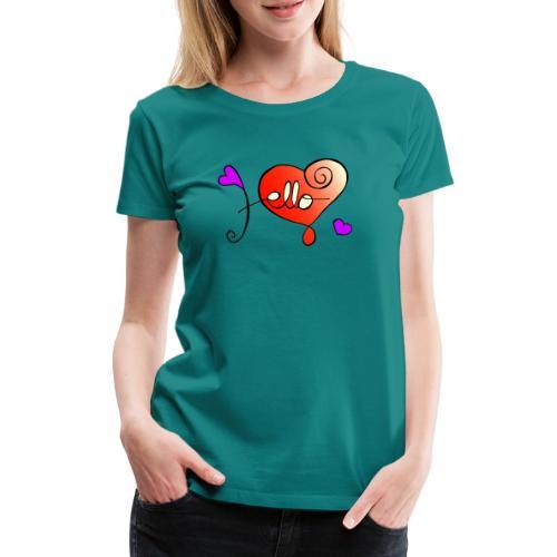Hello Herz - Frauen Premium T-Shirt