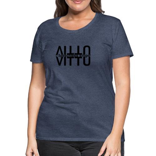 Mustat vitut vastakkain - Naisten premium t-paita