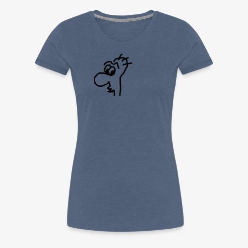 Gesicht mit großer Nase - Frauen Premium T-Shirt