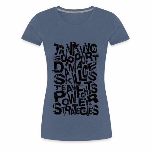 Typography of Legends - Women's Premium T-Shirt