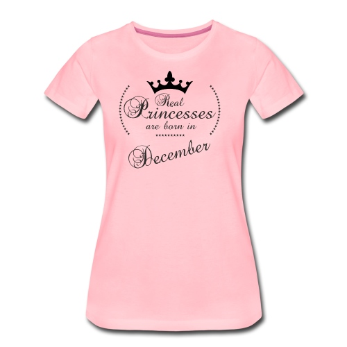Real Princesses black December - Frauen Premium T-Shirt