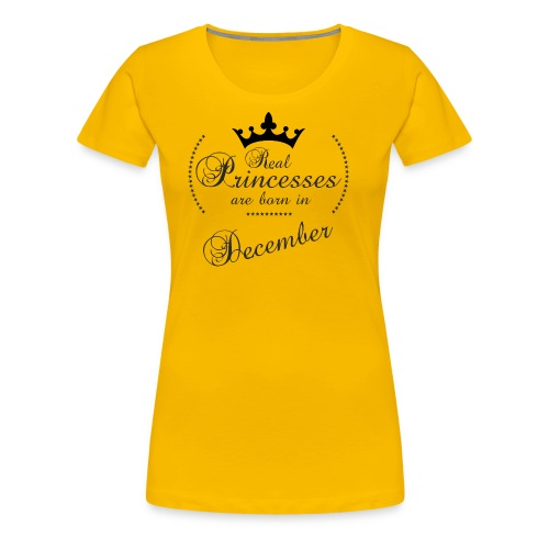Real Princesses black December - Frauen Premium T-Shirt