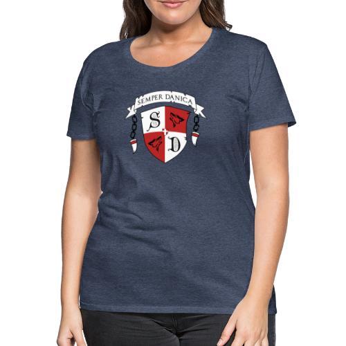 SD logo - sorte lænker - Dame premium T-shirt