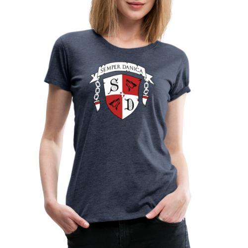 SD logo - hvide lænker - Dame premium T-shirt