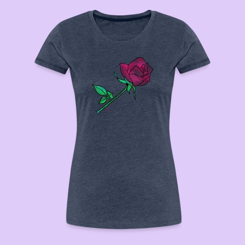 Diseño rose - Camiseta premium mujer