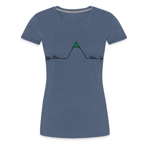 Wandern Pfeil This Way Retro Design Wanderlust - Frauen Premium T-Shirt