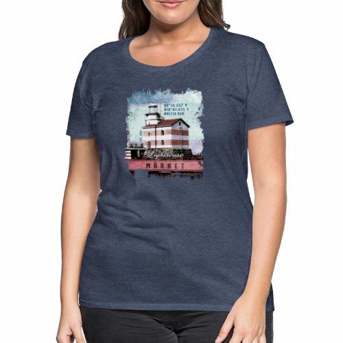 Märket majakkatuotteet, Finland Lighthouse, väri - Naisten premium t-paita