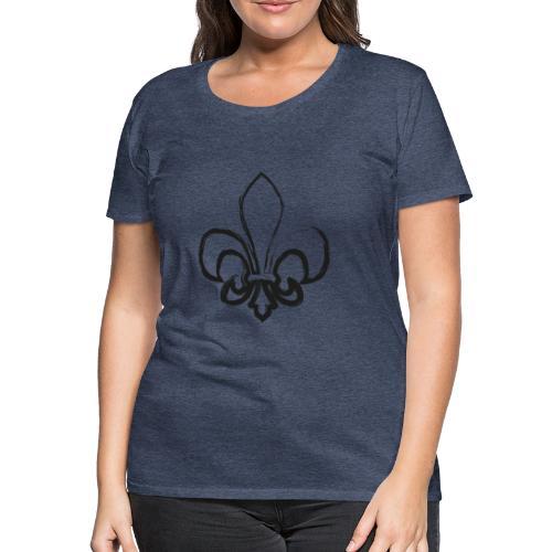 Pinselzeichnung Lilie – Schwarz - Frauen Premium T-Shirt