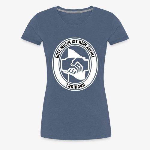 Logo Troihand invertiert - Frauen Premium T-Shirt