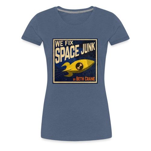We Fix Space Junk logo (square) - Women's Premium T-Shirt