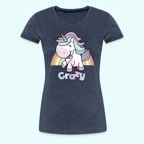 Crazy Unicorn by myLilimals - Frauen Premium T-Shirt
