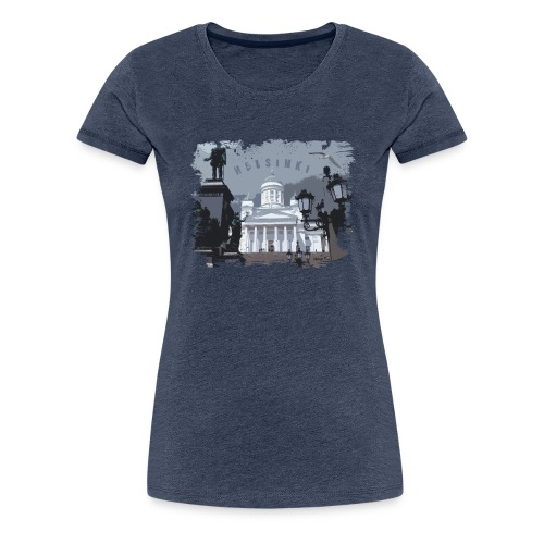 Helsinki tuomiokirkko T-paidat, hupparit, tuotteet - Naisten premium t-paita