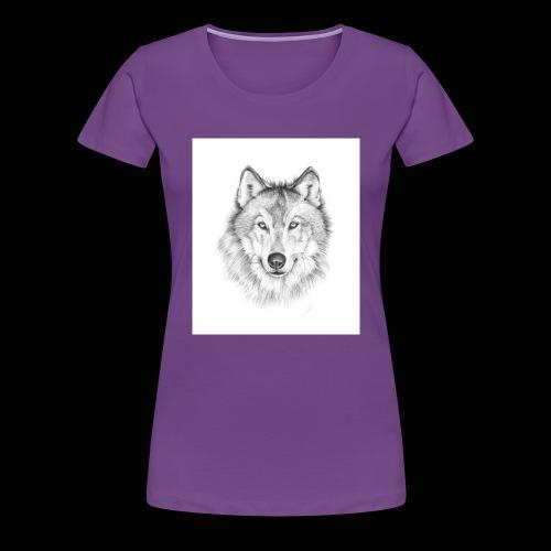 Wolf - Dame premium T-shirt