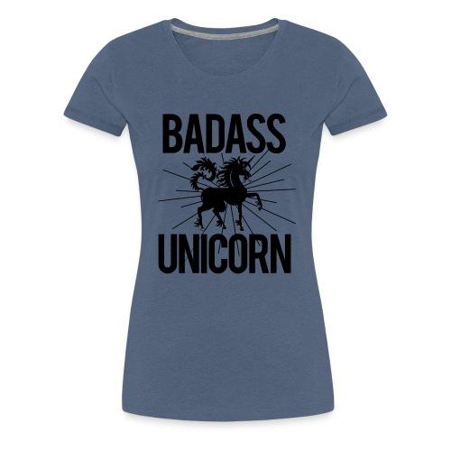 Badass Unicorn - Women's Premium T-Shirt