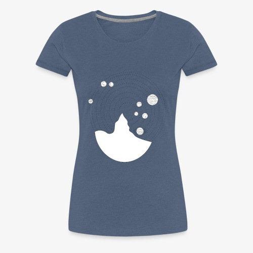 project earth black and white - Vrouwen Premium T-shirt