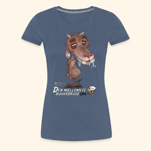 Mellem bukkebruse - Dame premium T-shirt