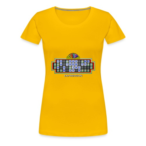 Jackie Weaver Wheel of Fortune - Women's Premium T-Shirt