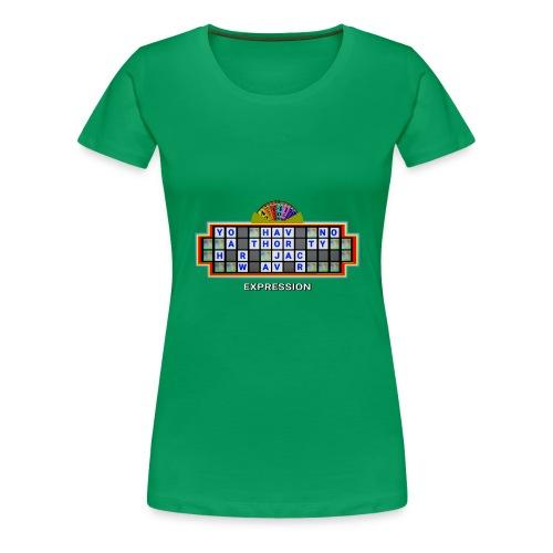 Jackie Weaver Wheel of Fortune - Women's Premium T-Shirt