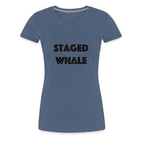Staged Whale - Vrouwen Premium T-shirt