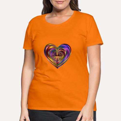 Colorful Love Heart Print T-shirts And Apparel - Women's Premium T-Shirt
