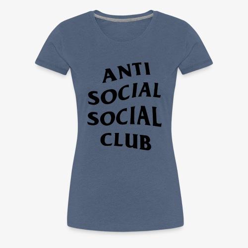 antisocialclub - Premium-T-shirt dam