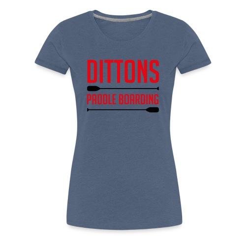 Dittons Paddle Boarding Logo - Women's Premium T-Shirt