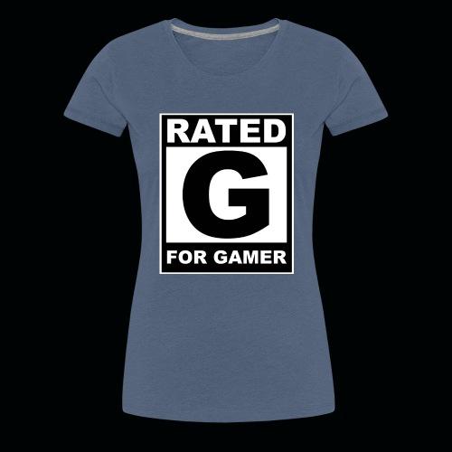 RATED G FOR GAMER - Women's Premium T-Shirt
